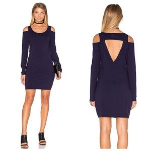 Chaser Cold Shoulder Bodycon Dress in Cove